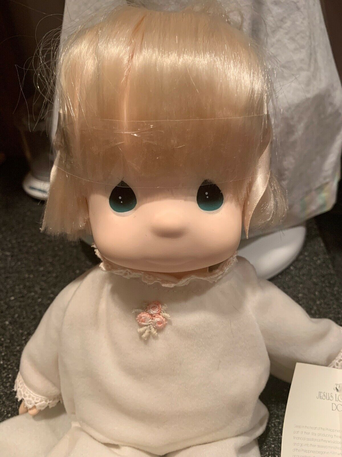 Precious Moments The Jesus Loves Me Doll Girl Doll Rare New Original Tag Clothes
