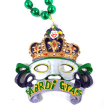 Crown Mask Mardi Gras Jester New Orleans Necklace Beads Bead - $6.16 CAD
