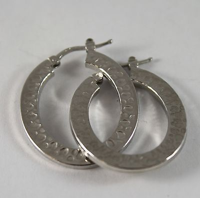 925 Silver Earrings Oval with feature Forging