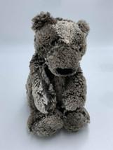 "Jellycat Bramble Woodland Bashful Gray Brown Teddy Bear Plush Floppy 11"" - $29.99"