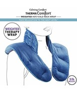Calming Comfort ThermaComfort Weighted Hot/Cold Neck Shoulder Wrap- Deep... - $39.61