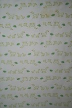 BABY GAP Ducks Leaves Green Receiving Blanket Soft Swaddle 2 Ply Cotton ... - $40.50