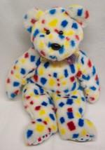 "Ty Beanie Buddy 1999 MULTI-COLORED Polka Dot Teddy Bear 13"" Stuffed Animal Toy - $18.32"