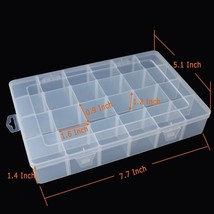 2 PCS Plastic Adjustable Storage Box Set Jewerly Earring Screws Containe... - $12.82
