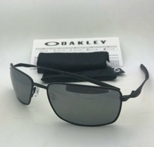 Polarized OAKLEY Sunglasses SQUARE WIRE OO4075-05 Matte Black with Black Iridium