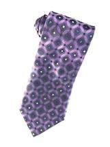 Van Heusen NWOT Hand Made Purple Geometric Men's Silk Tie - $11.83