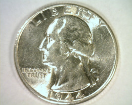1944 WASHINGTON QUARTER CHOICE ABOUT UNCIRCULATED+ CH. AU+ NICE ORIGINAL... - $11.00