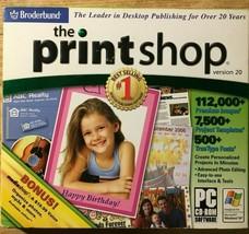 Broderbund Encore Print Shop 20 computer printing graphics software CD f... - $9.49