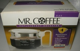 New Mr. Coffee D40 Replacement Decanter Carafe Pot White 4 Cup NIP Vintage - $16.79