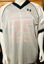 Men's Football Jersey White Size 3XL Mesh Under Armour / NEW / Authentic - $9.89