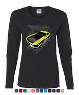 Ford Mustang Yellow Boss 302 Women's Long Sleeve Tee Vintage American Mu... - $12.23+