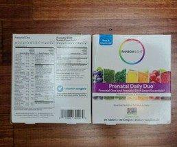 2 Rainbow Light Prenatal Daily Duo Plus Superfoods & Probiotics Exp 10/2021 - $16.99