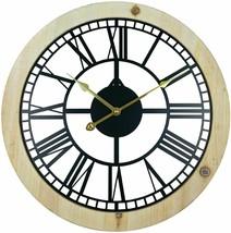 Roman Numeral Black Metal Cut Out Wall Clock 45cm - $23.27