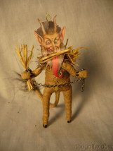 Vintage Inspired Spun Cotton Christmas Krampus Antique Looking no. CH6 A image 1