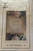 The Drawn Thread Charted Needlwork Designs  My Valentine Sampler Pattern - $8.99