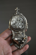⭐ vintage French religious wall decoration, holy water font ,Mont Saint ... - $39.00