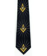 Masonic Shine Mens Necktie Compass Square Mason Order Freemason Neck Tie - $15.79