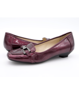 Anne Klein Womens 6.5M Justine Burgundy Square Moc Toe Slip On Cone Pump... - $19.99