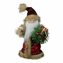 Kurt Adler Père Noël Guirlande Noël Arbre dessus Transparent Lumières Va... - $39.59