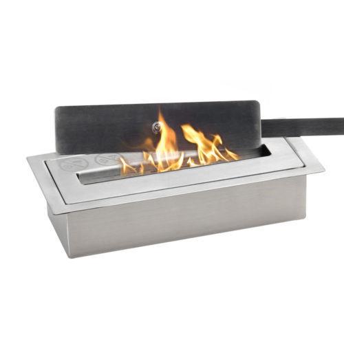WOLFIRE® Home Decor Bio Ethanol Fireplace Table Top 0.5L Burner Insert w/Extingu