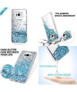 Samsung Galaxy S8 Plus Case Liquid Floating Glitter Hard Cover TPU Bumpe... - $16.35