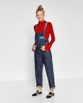 BNWT ZARA DENIM MOM FIT DUNGAREES OVERALL s.XS REF. 5252/276 - $29.09