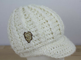 San Francisco Giants SF Beanie Knit Crochet Cap w/ Bill Acrylic Women's ... - ₹1,186.75 INR