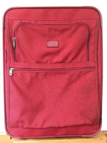 Primary image for Red Tumi #2283RF Rolling Travel Luggage Expandable Multi-Pocket Suitcase 19x24""