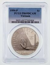 1994-P Argento Vietnam Commemorative a Prova di Selezionato PCGS come PR... - $39.53