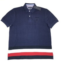 Tommy Hilfiger Polo NEW $70 Men ALL SIZES Blue Collar Shirt Big Flag Ra... - £37.50 GBP