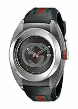 Gucci SYNC XXL Stainless Steel Watch with Black Rubber Bracelet Unisex Y... - $525.00 CAD