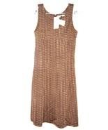 Sz XS - NWT $180 Vertigo Tan & Black Geometric Print Knit Sweater Dress  - $94.99