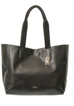 NWT COACH F58660 LG Pebble Leather DERBY Tote BLACK / Oxblood MSRP $295 - $148.49