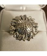 SUNFLOWER Sterling Silver RING - Size 8 - New without Tags - FREE SHIPPING - $65.00