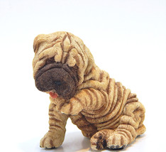 Vintage Living Stone Shar-Pei Puppy Wrinkled Dog Figurine Statue Resin - $20.00