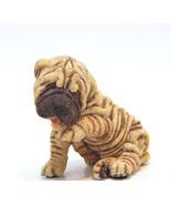 Vintage Living Stone Shar-Pei Puppy Wrinkled Dog Figurine Statue Resin - $20.00