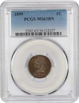 1899 1c PCGS MS63 BN - Indian Cent - $82.45