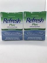 Refresh Plus Lubricant Eye Drops 30 Single Use (x2) LASIK Dryness  - $19.79