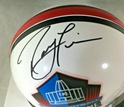 RAY LEWIS / NFL HALL OF FAME / AUTOGRAPHED HALL OF FAME LOGO MINI HELMET / COA image 2