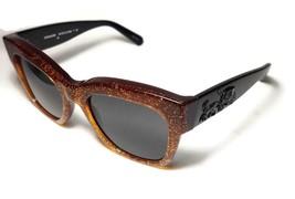 NEW COACH Brown Black Amber Saddle Glitter  HC823 Sunglasses + Case - $115.99