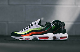 NIKE AIR MAX 95 SE BLACK/WHITE-VOLT-SOLAR RED Men Shoes - $277.33