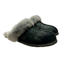 UGG Australia Scuffette II Black Suede Sheepskin Slippers Size 9 Style 5661 - $44.15