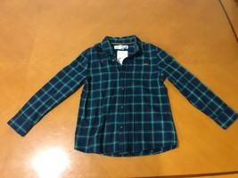 $17.99 NWT Boys Kids H&M Green Plaid Long Sleeve Button Down Shirt Size 6-7 - $9.89
