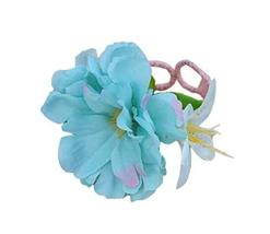1 Pair Of Charming Blue Flowers Beach Bracelets Lace Bracelets Jewelry