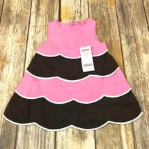 Gymboree Girls Pink Brown White Dress With Diaper Cover 3-6 Months NWT - $24.99