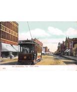 Streetcar Tram Third Street San Bernardino California 1910c postcard - $9.85
