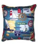 Sail Boat Pillow Handmade In USA Nordic Pillow Sailors Anchor Pillow Lig... - $9.99