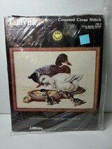 Vtg '87 Janlynn Counted Cross Stitch Duck Soup 58-4 16x12 Kit Hunting - $19.79