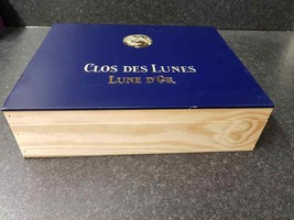 CLOS DES LUNES Wooden Wine Box - Ideal wedding card box / table display box - $24.08