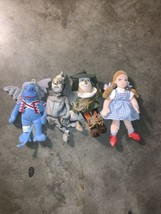 Vintage Merry-O Collection The Wizard of Oz lot of  4 Bean Dolls 1998 Ne... - $21.78